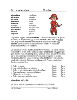 Mi padre es bombero Lectura: Spanish Beginner Reading My Father is a Firefighter