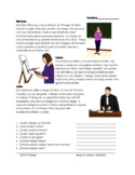 Spanish Professions Reading: Las Profesiones Lectura (Desde hace)