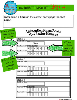 Editable Name Books{Programmed for pictures to instantly appear for each letter}
