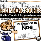 Name Books-Editable {Spanish} (Alphabet Doodle Font; just type to edit books)