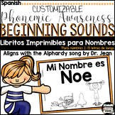 Name Books-Editable {Spanish} (Alphabet Doodle Font; just type to edit books)
