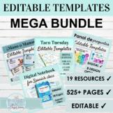 Spanish Editable Games and Activities Bundle | MEGA BUNDLE