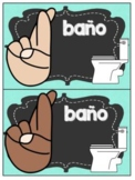 Spanish  Editable Hand Signal Posters - Señales Con Las Manos