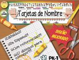 Name Plates, Spanish Editable,  - Tarjetas de Nombre para