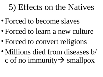 Spanish Effects on Native Americans