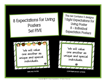 Spanish Eight Expectations Poster Set Five