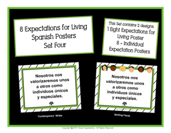 Spanish Eight Expectations Poster Set Four