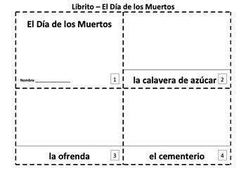 Spanish El Dia de los Muertos Booklets & Presentation