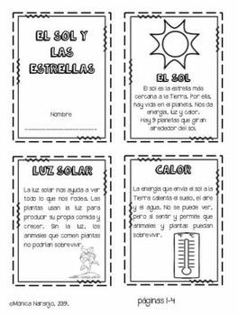 Ciencias: El Sol y las Estrellas.
