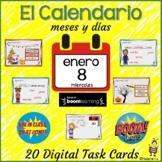 Spanish: El calendario - días y meses: BOOM cards: Digital