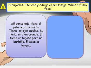 Spanish El cuerpo, the body for beginners NO PREP