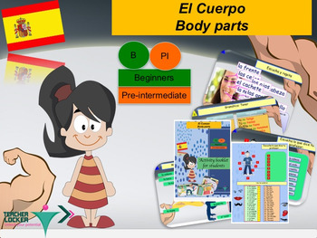 Spanish El cuerpo, the body full lesson for beginners