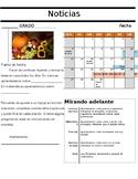 Editable Spanish Elementary Newsletter Template / Boletin