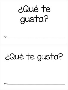 Spanish Emegent Book- Que te gusta?
