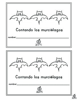 Spanish Emergent Reader: Bat Counting