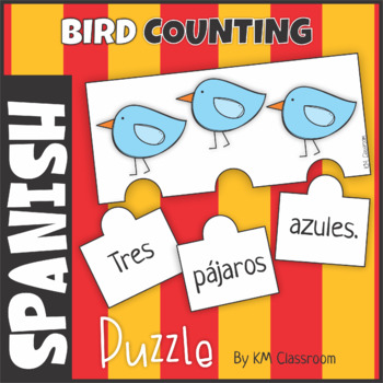 Spanish Emergent Reader Counting Birds Puzzle