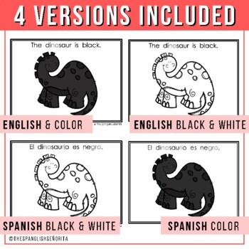 "Spanish Emergent Reader - ""El Dinosaurio"" Colors"