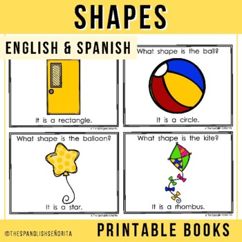 "Spanish Emergent Reader (February) - ""Las Formas"" Shapes"