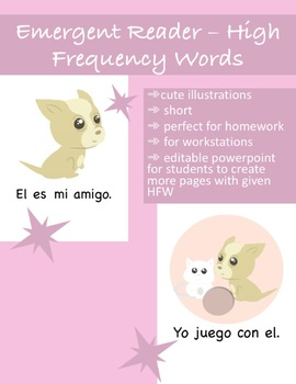 'Amigos' - Spanish Early Emergent Reader Book- High Frequency Words (Editable)