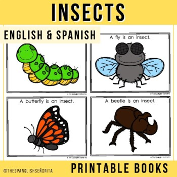 """Spanish Emergent Reader (March) - """"Insectos"""" Insects"""