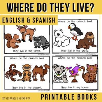 "Spanish Emergent Reader (May) - ""¿Dónde Viven?"" Animal Habitats"