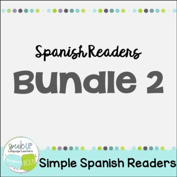 Spanish Emergent Readers {Bundled Set 2} Dual language, im