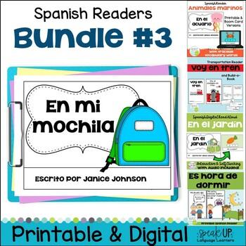 Spanish Emergent Readers {Bundled Set 3} Dual language, im