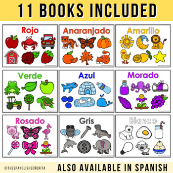 """Spanish Emergent Readers - """"Colores"""" Colors"""