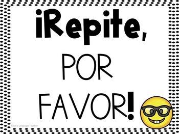 Spanish Emoji Classroom Signs