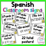 Spanish Classroom Signs and Conversation Posters
