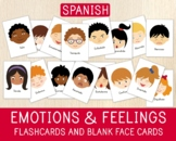 Spanish Emotion Flashcards & Blank Face Cards, Spanish Res