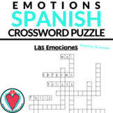 Spanish Emotions Crossword Puzzle