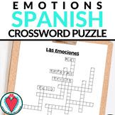 Spanish Adjectives - Spanish Emotions Vocabulary - Crosswo