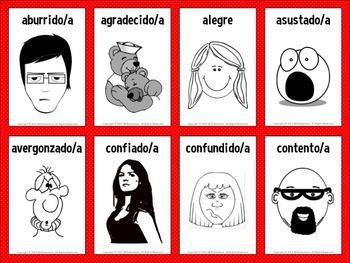 Spanish Emotions Vocabulary Flashcards