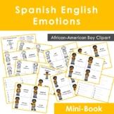 Spanish Emotions Las Emociones Mini Book African - American Boy Clipart