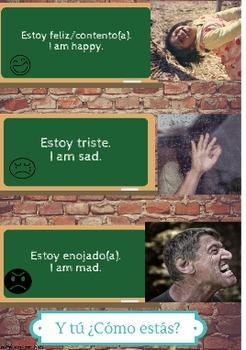 Spanish Emotions Posters - Sentimientos en Español