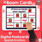 Spanish Emotions Uncover the Picture Boom Cards - No Prep Christmas Theme