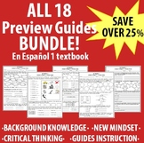 Spanish - En Espanol 1 - ALL 18 Preview Guides BUNDLE