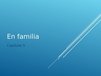 "Spanish ""En Familia"" Supplemental PowerPoint for Imagina Textbook"