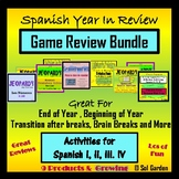 Back to School Spanish Game Review Bundle
