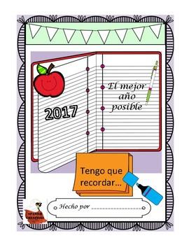 Spanish End of Year Memory Book- Libro del fin del año