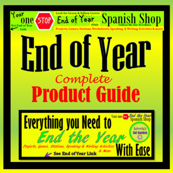 Spanish End of Year Product Guide - Everything You Need