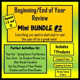 Spanish End of Year Review - Mini Bundle #2