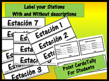 Beginning of Year Review - Spanish I II or III Stations or Activities