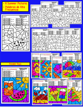 Spanish End of the Year Activities Bundle : Literacy, Math, Crowns, & Pennants
