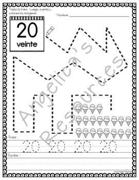 Spanish Numbers 0-20: Los Números - End of the Year Activities