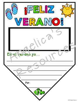 Spanish End of the Year Activities: Spanish Summer Pennant - Feliz Verano