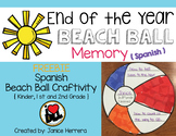 Spanish End of the Year Beach Ball Memory