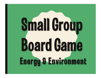 Spanish Energy and Environment Board Game