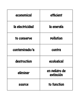 Spanish Energy and Environment Buzz Game